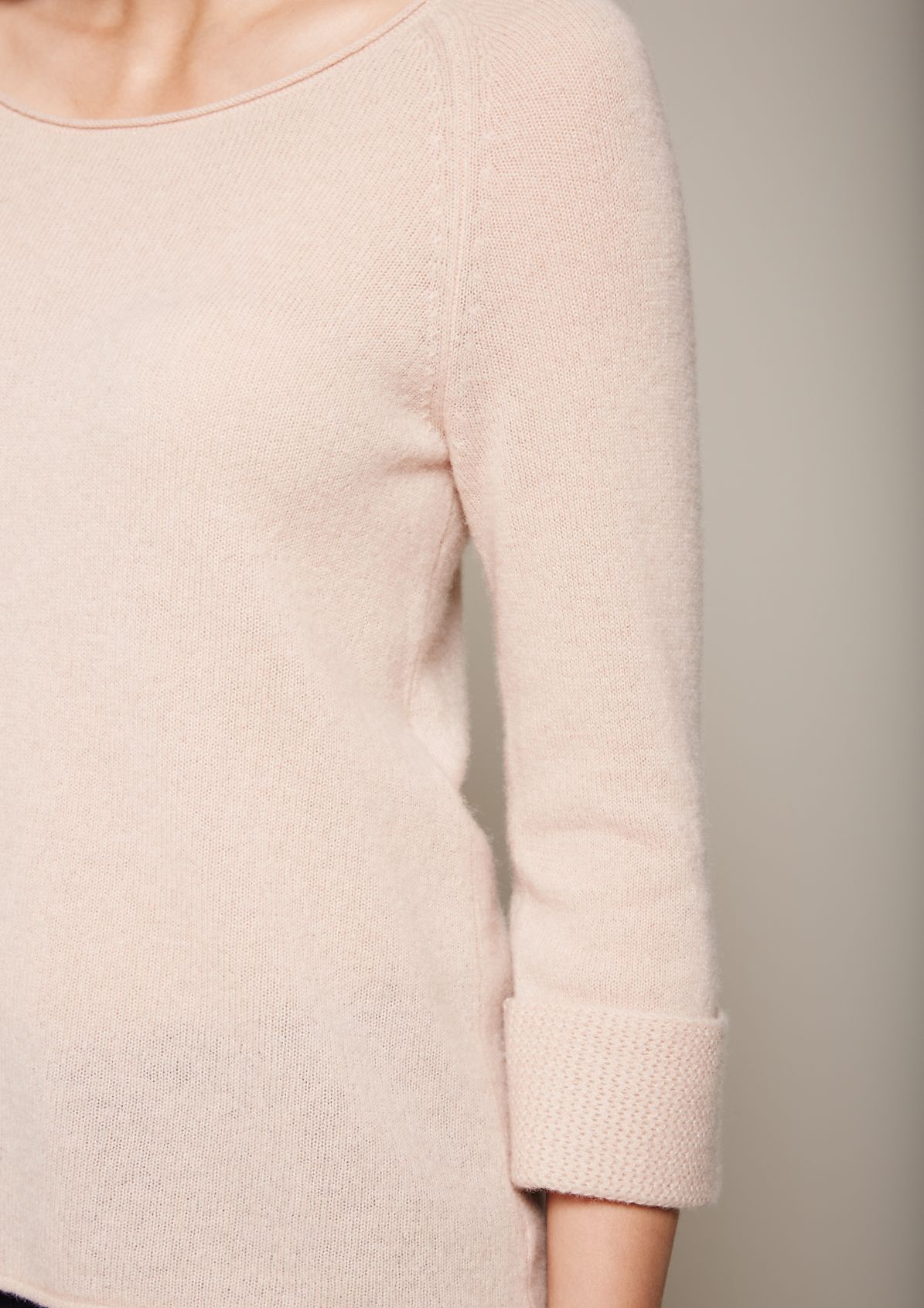 Cosy wool jumper with 3/4-length sleeves and sophisticated details from s.Oliver