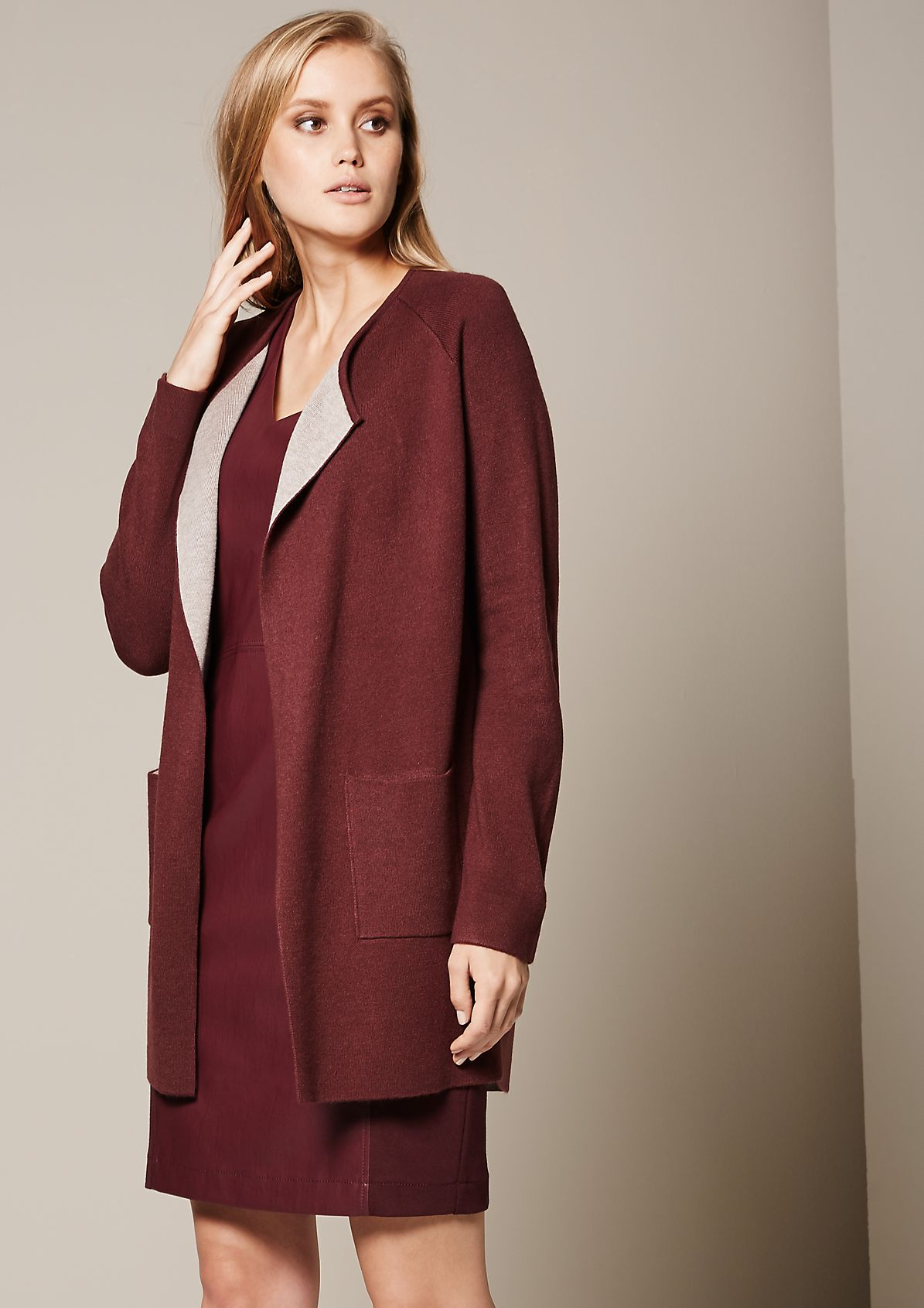 Casual long cardigan with beautiful details from s.Oliver