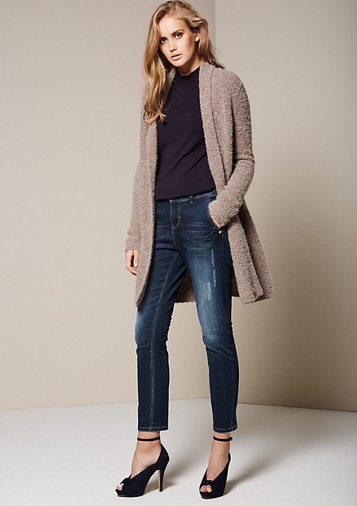 Cosy bouclé cardigan with sophisticated details from s.Oliver