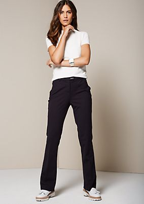 Fine business trousers with sophisticated details from s.Oliver