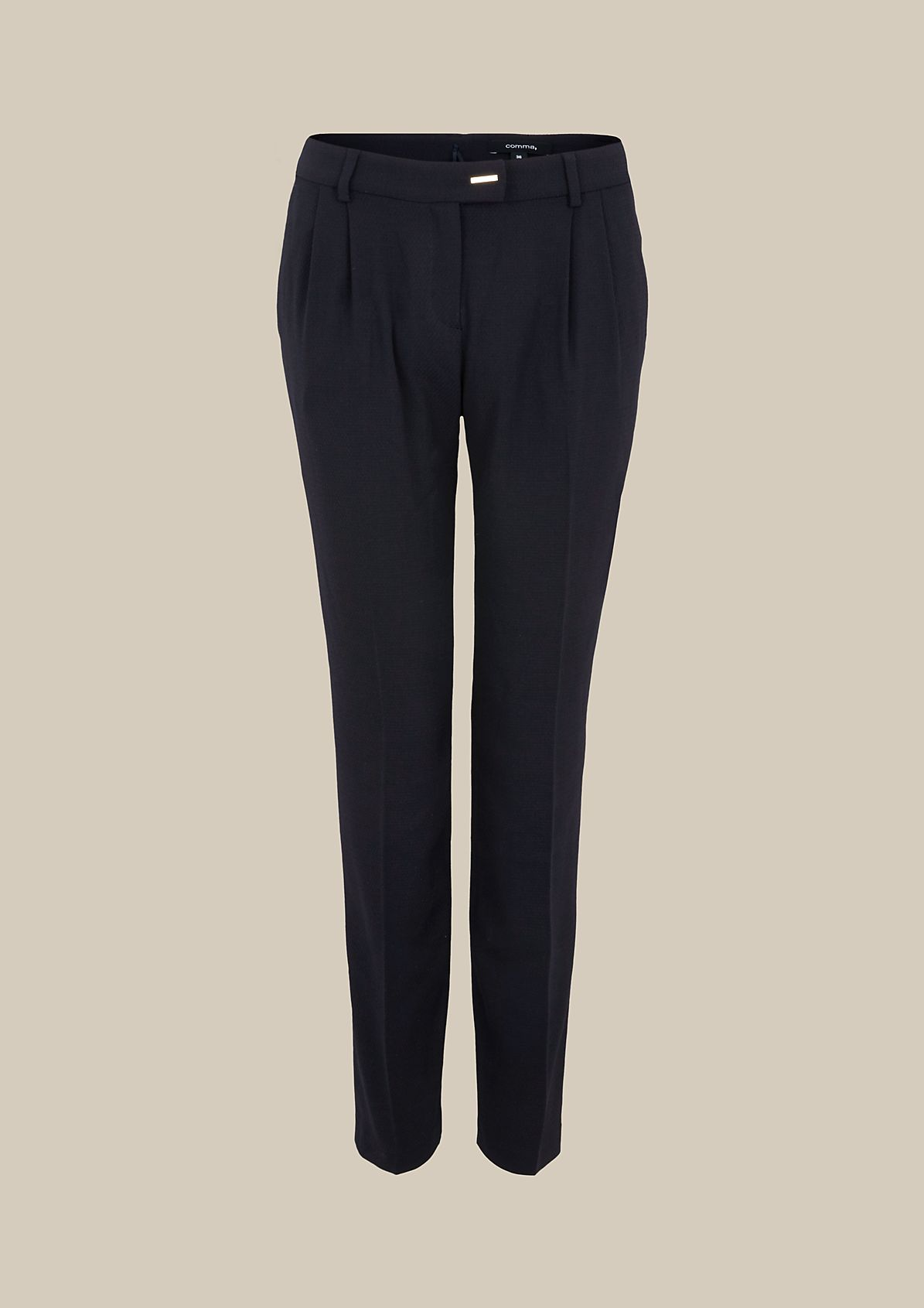 Elegant business trousers with a fine dobby texture from s.Oliver