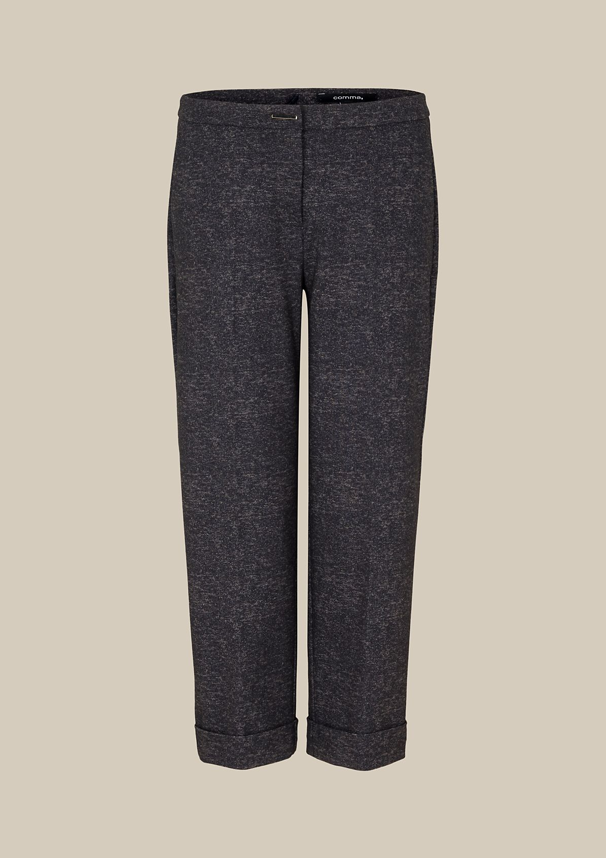 Casual business trousers with a 3/4-length leg from s.Oliver