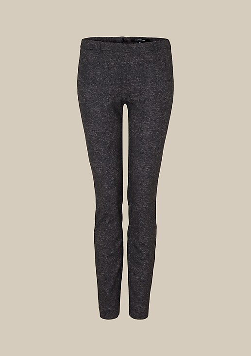 Feminine business trousers with a mottled effect from s.Oliver