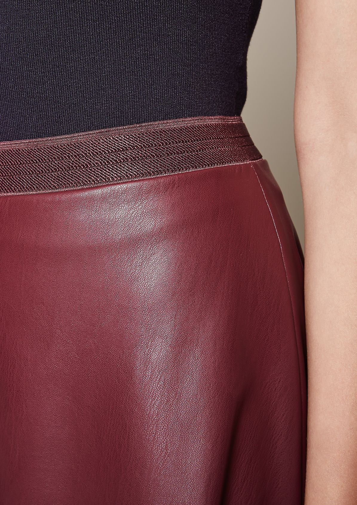 Extravagant business skirt in soft imitation leather from s.Oliver