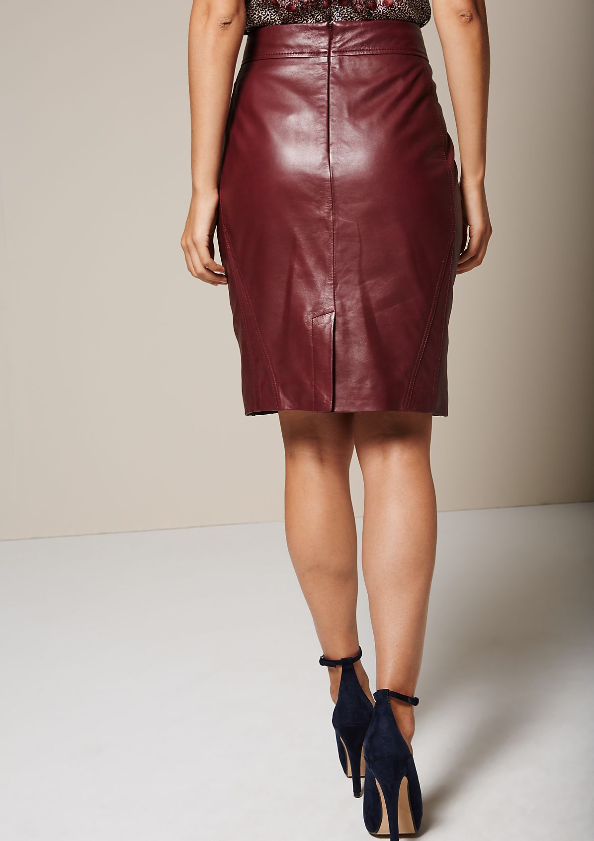 Sensational skirt in soft genuine leather from s.Oliver