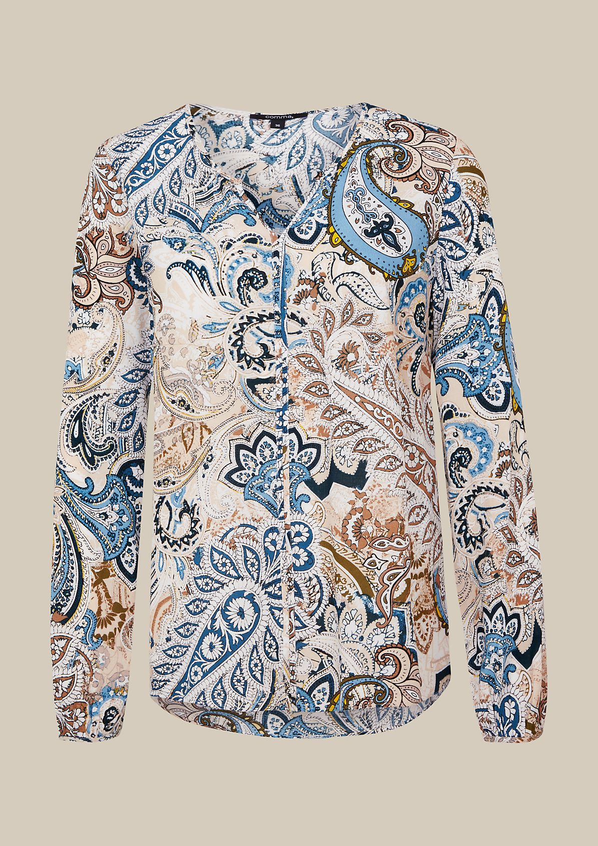 Airy crêpe tunic with an opulent pattern from s.Oliver