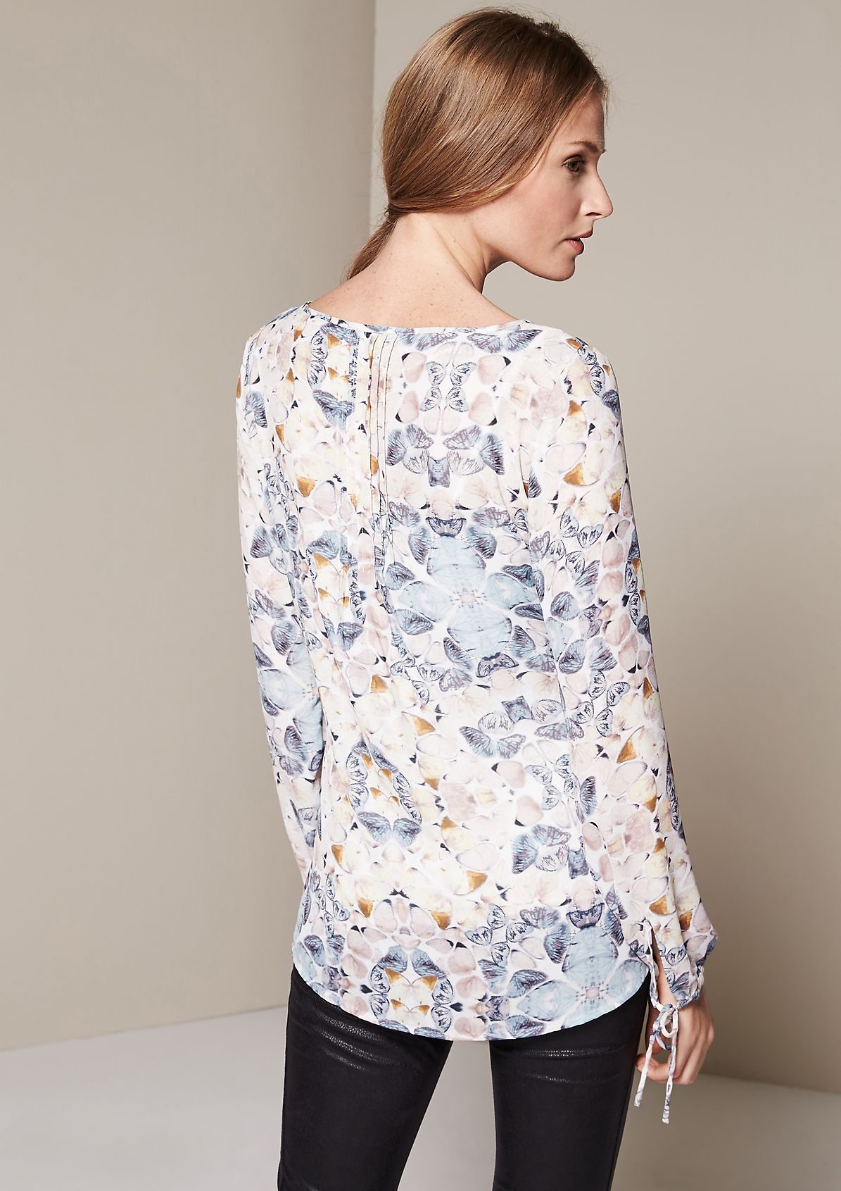 Lightweight chiffon blouse with an elaborate all-over print from s.Oliver