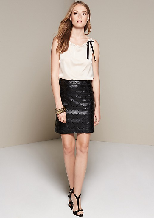 Satin top with a matte sheen and sophisticated details from s.Oliver