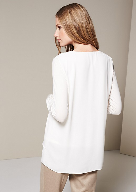 Beautiful chiffon long sleeve top in a layered look from s.Oliver