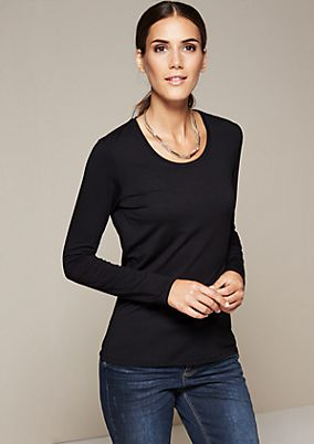 Lightweight jersey long sleeve top with pretty details from s.Oliver