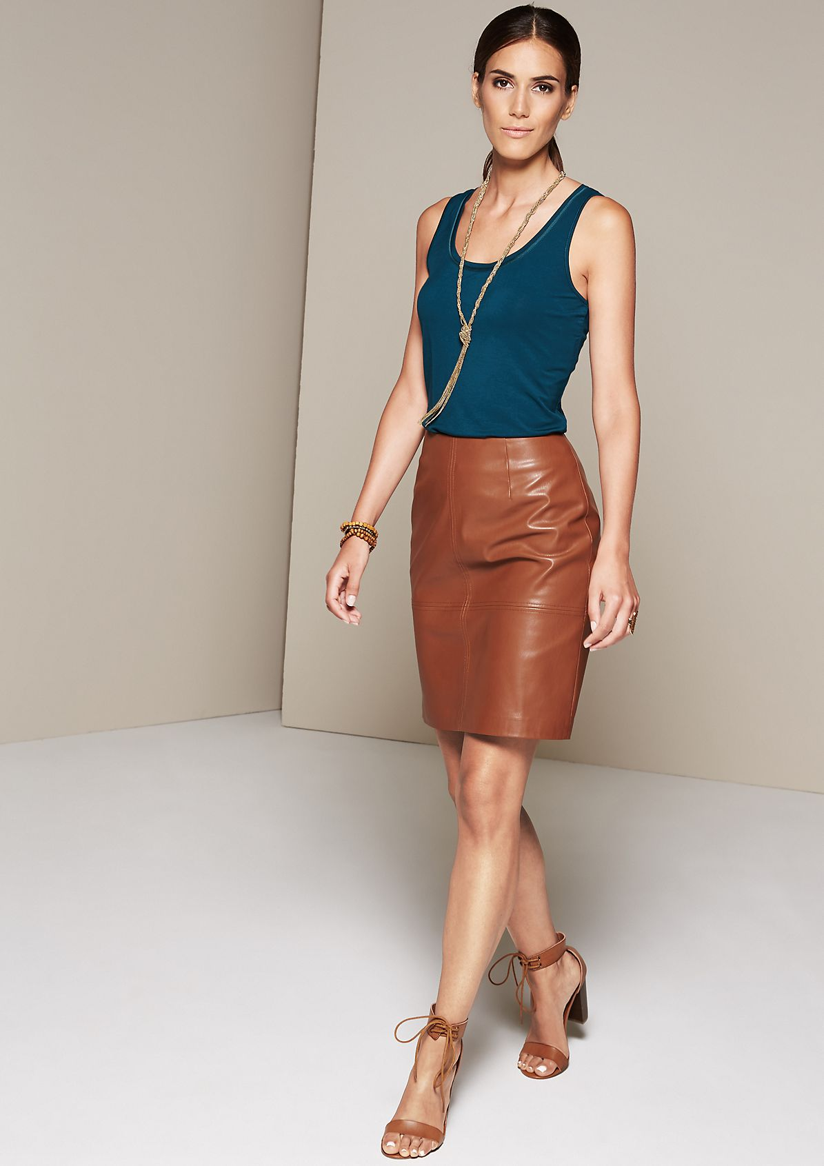 Casual jersey top with sophisticated details from s.Oliver
