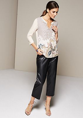 Sophisticated top in an beautiful mix of fabrics with 3/4-length sleeves from s.Oliver