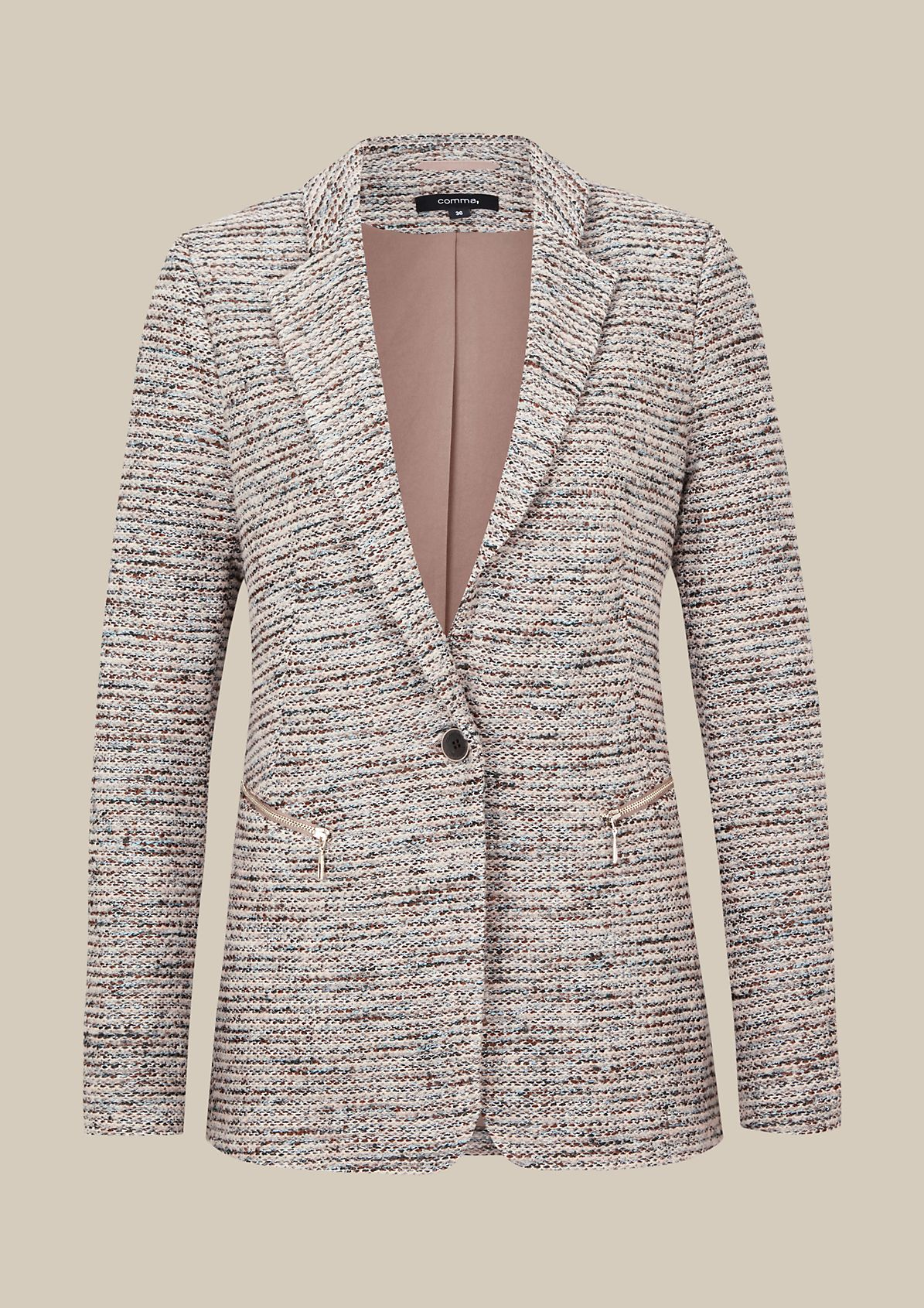 Elegant blazer in a bouclé look from s.Oliver