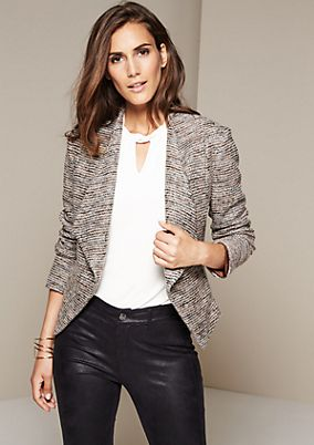 Extravagant business blazer in a bouclé look from s.Oliver