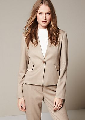 Elegant business blazer with a dobby pattern from s.Oliver