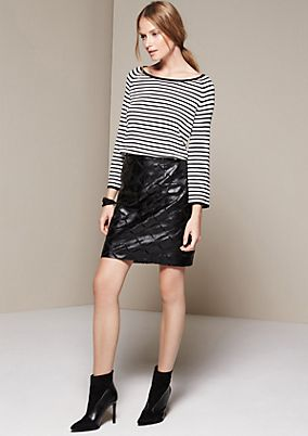 Cosy jumper with 3/4-length sleeves and a classic striped pattern from s.Oliver