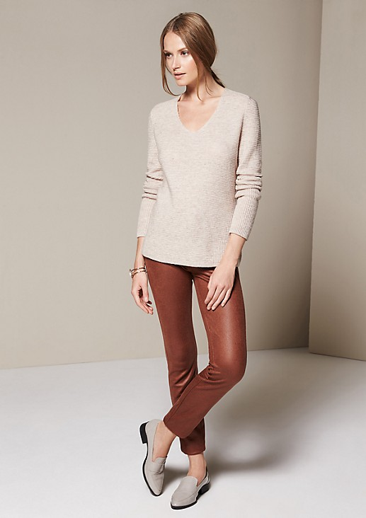 Casual knit jumper with beautiful details from s.Oliver