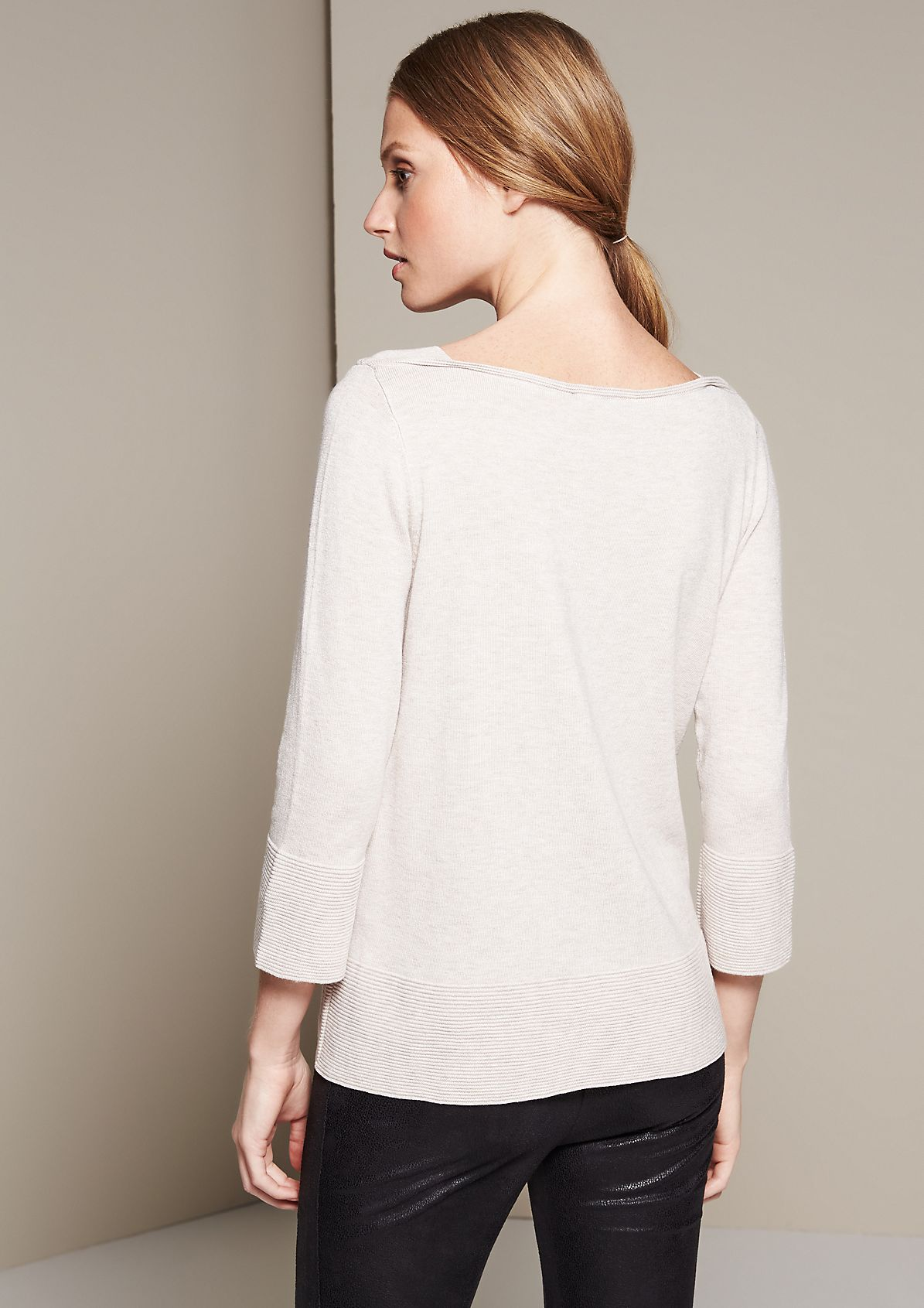 Cosy knit jumper with 3/4-length sleeves from s.Oliver