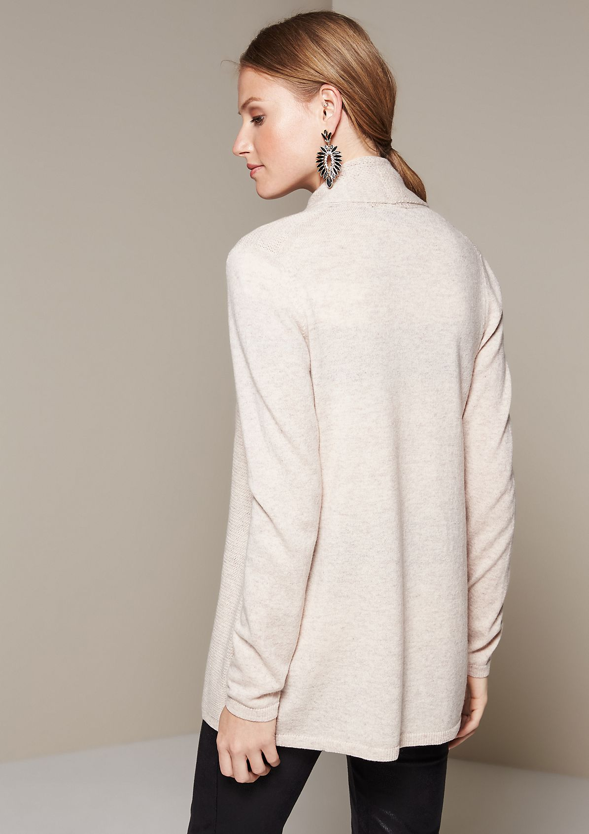 Cosy long cardigan in a mix of patterns from s.Oliver