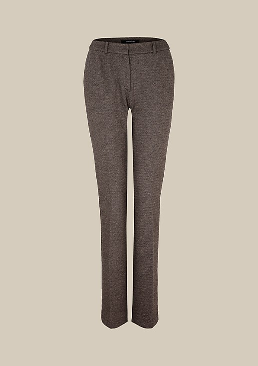 Elegant business trousers with an attractive herringbone pattern from s.Oliver