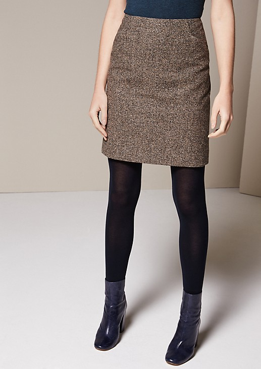 Elegant skirt in a classic tweed finish from s.Oliver