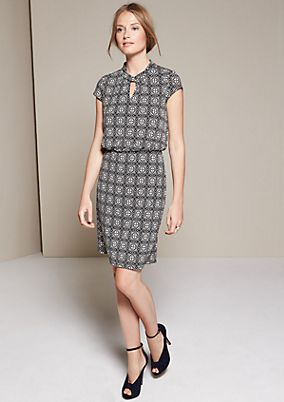 Relaxed casual dress with a beautiful ornamental pattern from s.Oliver