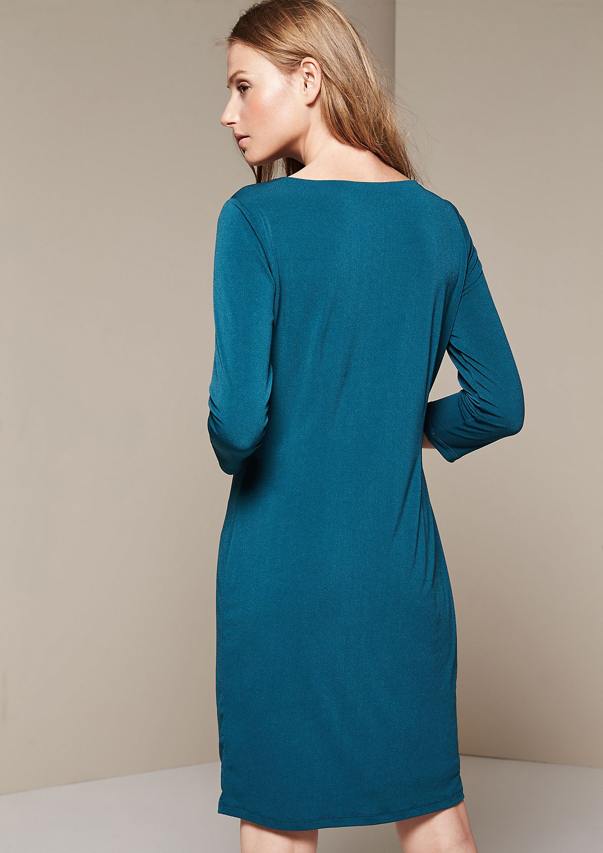 Beautiful crêpe dress with sophisticated details from s.Oliver