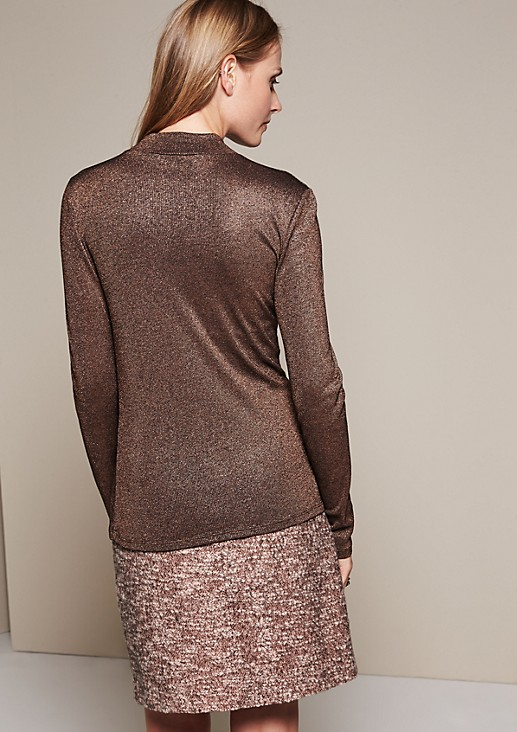 Glamorous long sleeve top in glittering effect yarn from s.Oliver