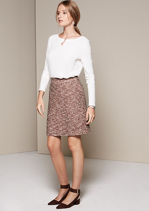 Elegant long sleeve top in decorative blended fabric from s.Oliver