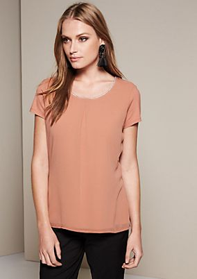 Elegant top in a sophisticated fabric mix from s.Oliver