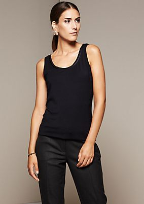 Smart sleeveless top with great details from s.Oliver