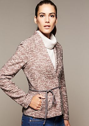 Elegant blazer with a narrow belt from s.Oliver