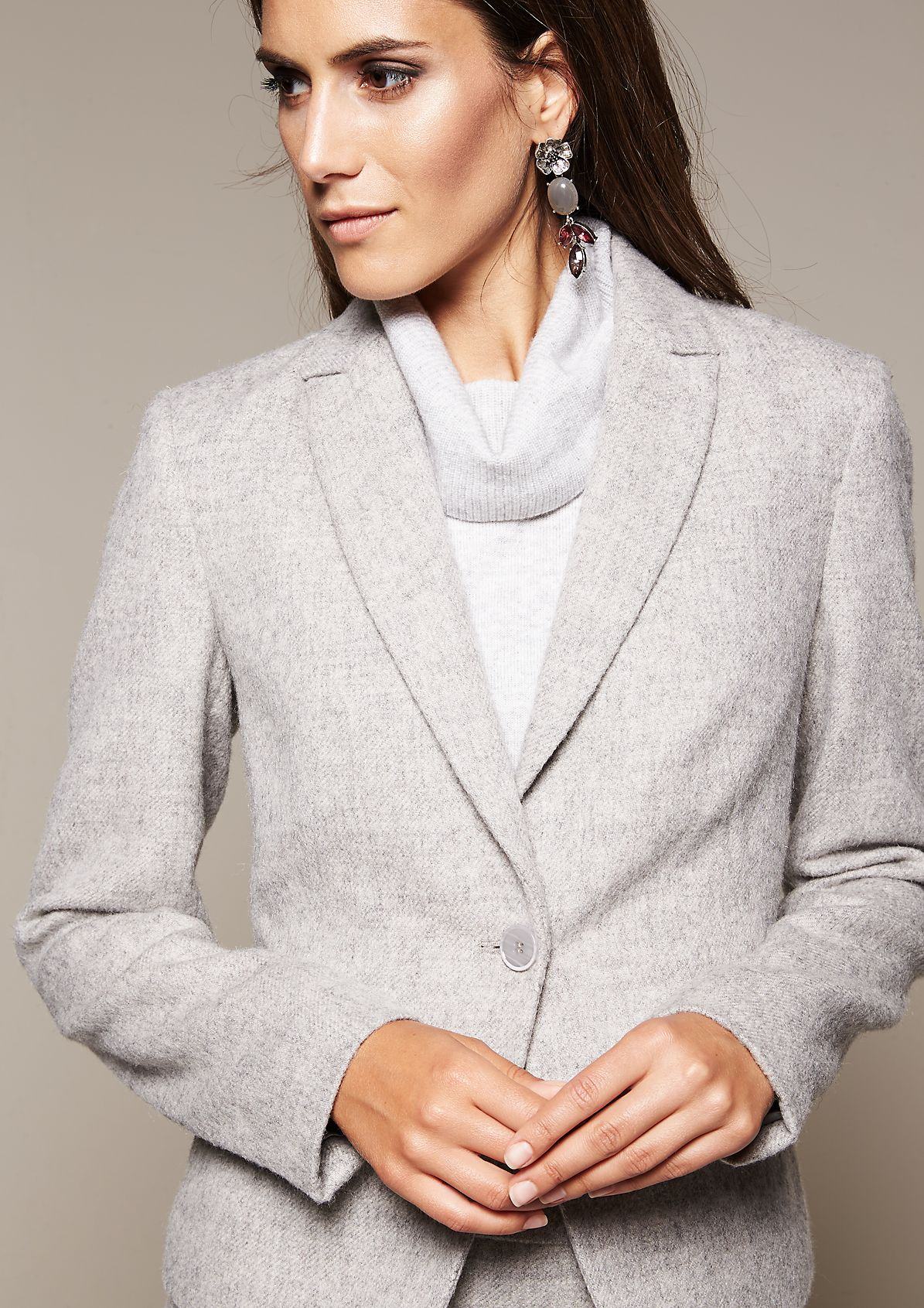 Extravagant blazer in a wool look from s.Oliver