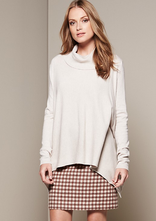 Casual knit jumper in a mix of patterns from s.Oliver