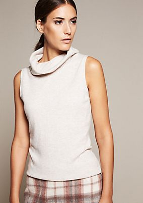 Soft knit jumper with a high polo neck from s.Oliver
