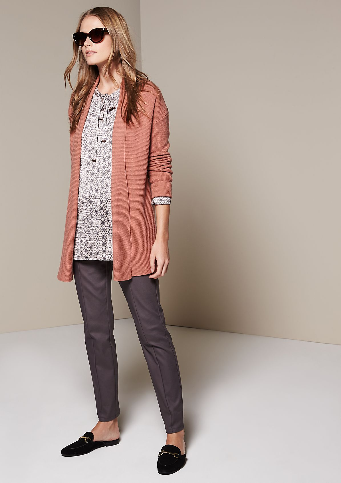 Casual cardigan with beautiful details from s.Oliver