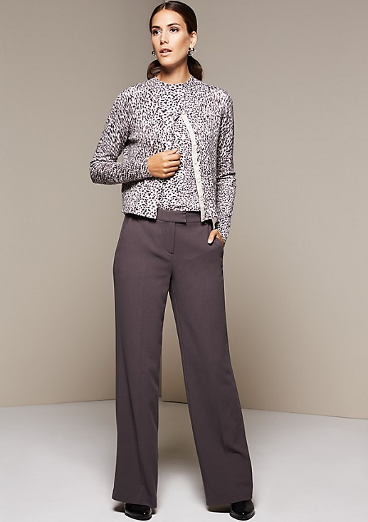 Lightweight cardigan with an exciting all-over pattern from s.Oliver