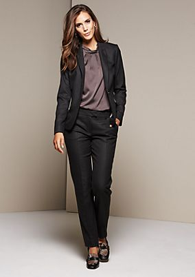 Elegant business trousers with a fine minimal pattern from s.Oliver