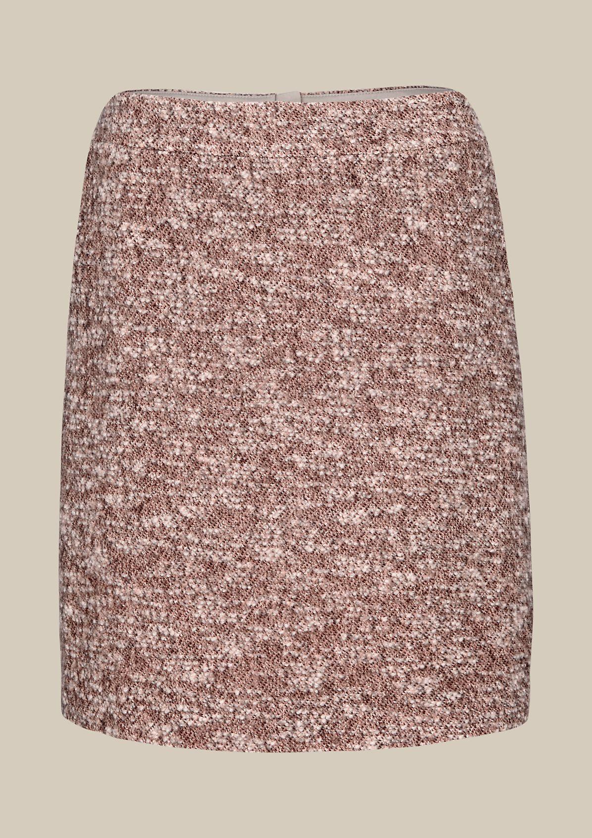 Elegant short skirt in a melange look from s.Oliver