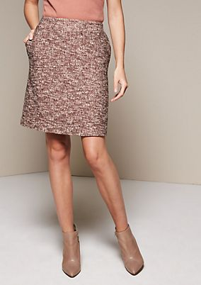 Elegant short skirt in a melange look from s.Oliver