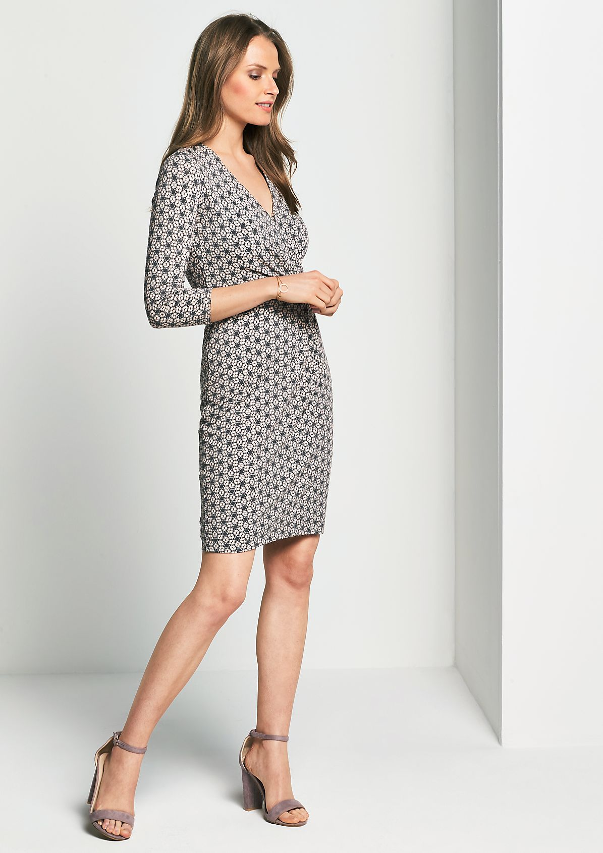 Beautiful casual dress with 3/4-length sleeves from s.Oliver