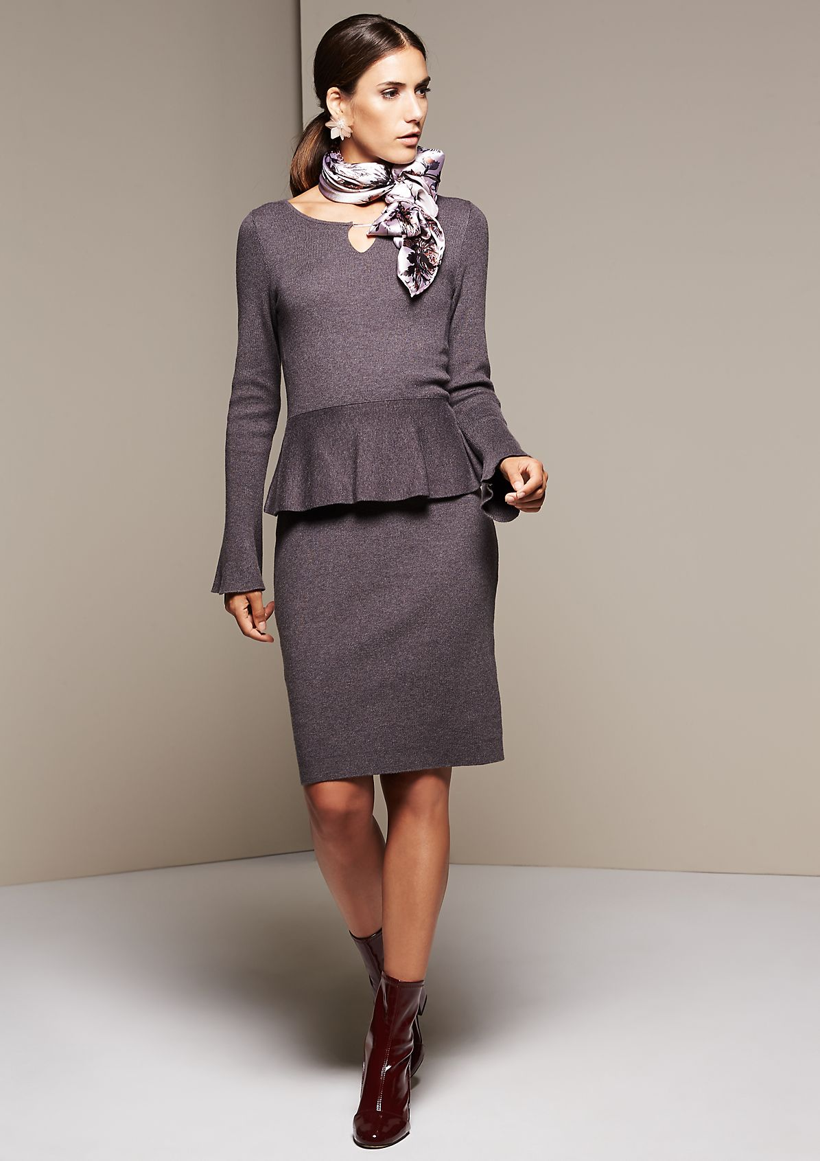 Beautiful casual dress with long sleeves from s.Oliver