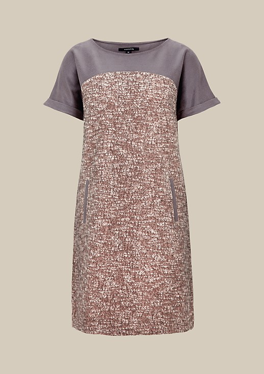 Beautiful wool dress with a faux leather trim from s.Oliver