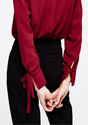 Lightweight crêpe blouse with a beautiful flounce trim from s.Oliver