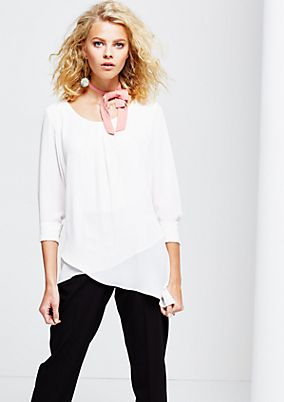 Delicate crêpe blouse in an exciting layered look from s.Oliver