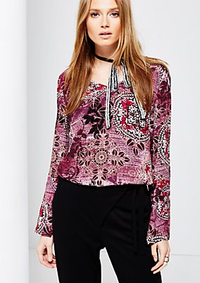 Casual crêpe tunic with a wonderfully colourful all-over print from s.Oliver