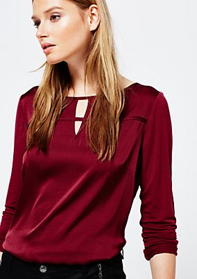 Smart long sleeve top in a sophisticated fabric blend from s.Oliver