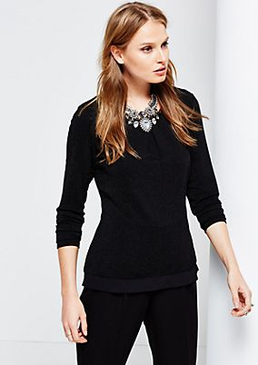 Glamorous long sleeve top with glitter detail from s.Oliver