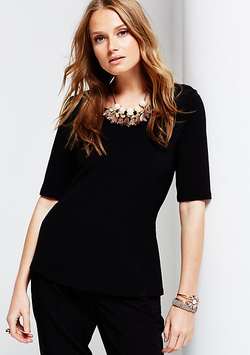 Elegant short sleeve top from s.Oliver
