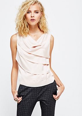Glamorous blouse top in a decorative layered look from s.Oliver